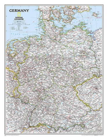 Buy map Germany, Classic, Sleeved by National Geographic Maps