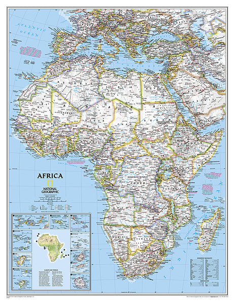 Buy map Africa Classic (Enlarged and Sleeved) by National Geographic Maps