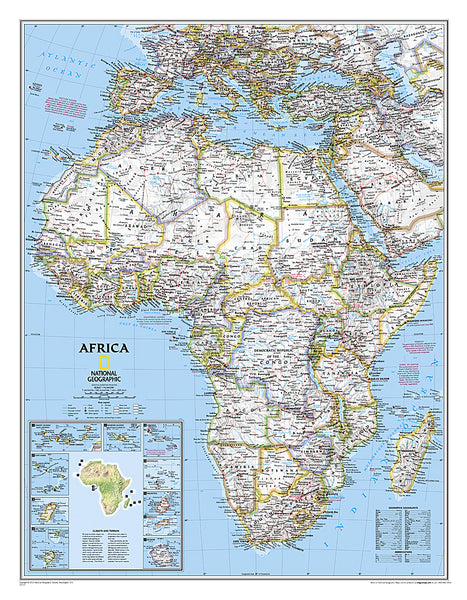 Buy map Africa, Classic, Laminated by National Geographic Maps