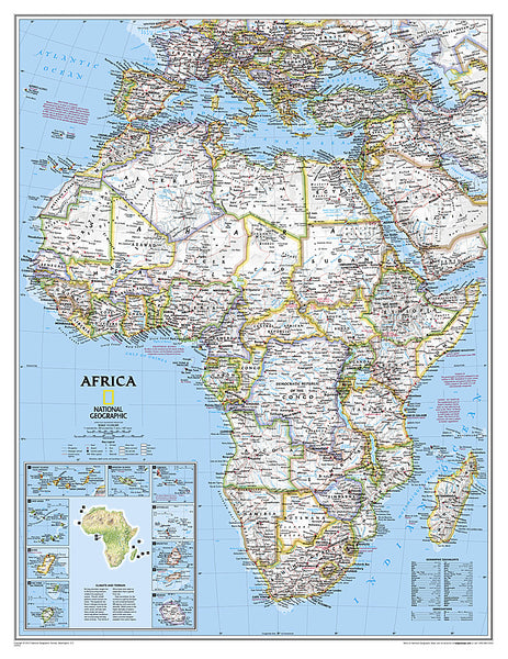 Buy map Africa, Classic, Enlarged and Laminated by National Geographic Maps