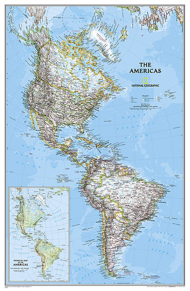 Buy map Americas Classic, Laminated by National Geographic Maps