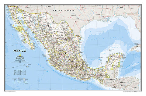 Buy map Mexico, Classic, Laminated by National Geographic Maps