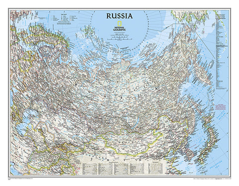 Buy map Russia & CIS, Classic, Laminated by National Geographic Maps