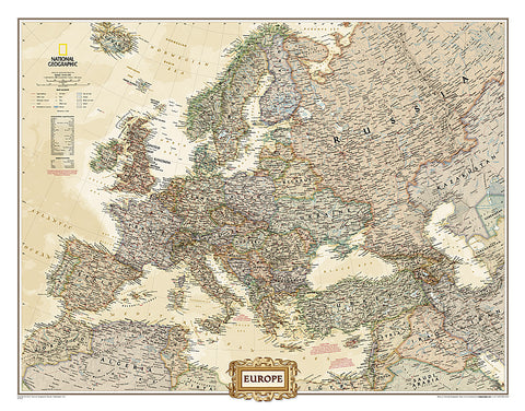 Buy map Europe, Executive, Laminated by National Geographic Maps