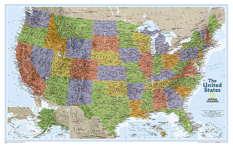 Buy map United States, Explorer, Sleeved by National Geographic Maps