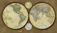Buy map World, Hemispheres, Laminated by National Geographic Maps