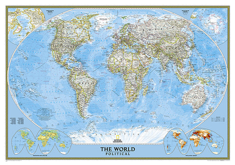Buy map World, Classic, Laminated by National Geographic Maps