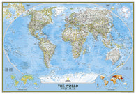 Buy map World, Classic, Enlarged and Laminated by National Geographic Maps