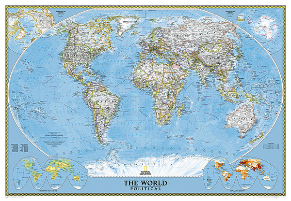 Buy map World, Classic, Mural by National Geographic Maps