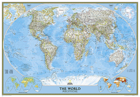 Buy map World, Classic, Enlarged and Sleeved by National Geographic Maps
