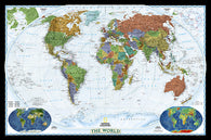 Buy map World, Decorator, Sleeved by National Geographic Maps