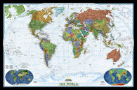 Buy map World, Decorator, Laminated by National Geographic Maps