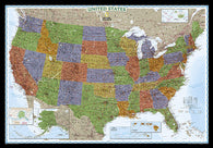 Buy map United States, Decorator, Laminated by National Geographic Maps