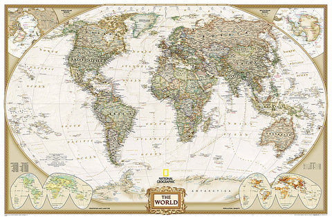 Buy map World, Executive, Enlarged and Laminated by National Geographic Maps