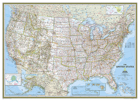 Buy map United States, Classic, Mural by National Geographic Maps