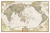 Buy map World, Executive, Pacific-Centered, Sleeved by National Geographic Maps