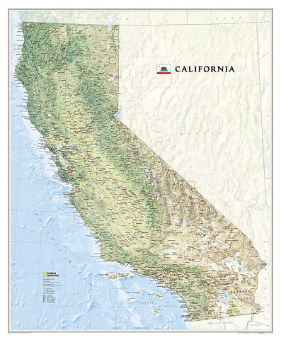 Buy map California, Tubed by National Geographic Maps