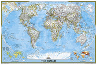 Buy map World, Classic, Poster-sized, Sleeved by National Geographic Maps