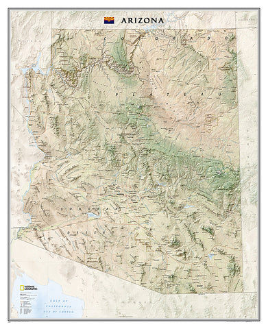 Buy map Arizona, Sleeved by National Geographic Maps