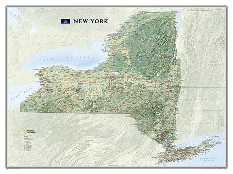 Buy map New York, Tubed by National Geographic Maps