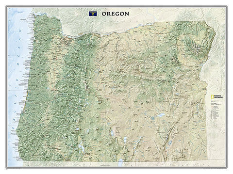 Buy map Oregon, Tubed by National Geographic Maps