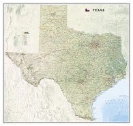Buy map Texas, tubed by National Geographic Maps
