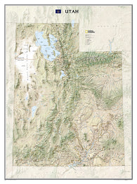 Buy map Utah, tubed by National Geographic Maps