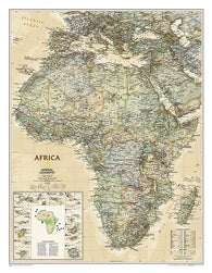 Buy map Africa, Executive, Sleeved by National Geographic Maps