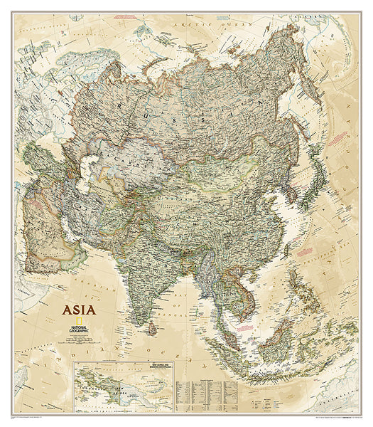 Buy map Asia Executive, Sleeved by National Geographic Maps