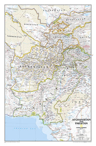 Buy map Afghanistan and Pakistan, Sleeved by National Geographic Maps