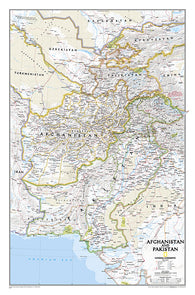 Buy map Afghanistan and Pakistan, Laminated by National Geographic Maps
