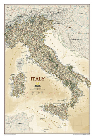 Buy map Italy, Executive, Laminated by National Geographic Maps