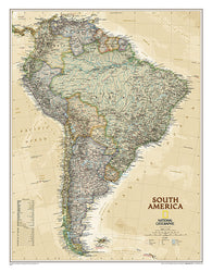 Buy map South America, Executive, Sleeved by National Geographic Maps