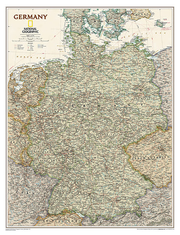 Buy map Germany, Executive, Sleeved by National Geographic Maps
