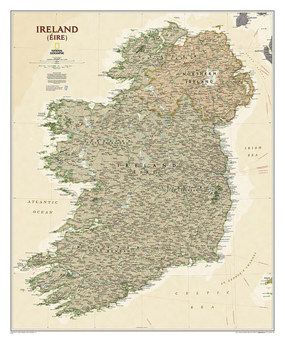 Buy map Ireland, Executive, Tubed by National Geographic Maps