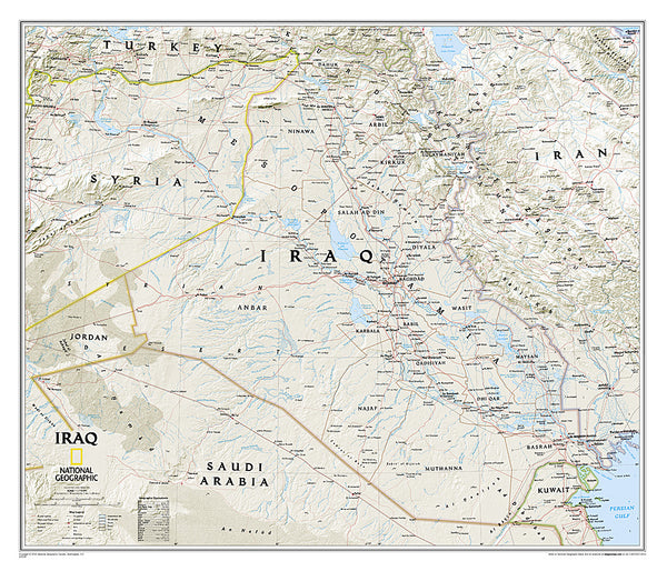 Buy map Iraq, Classic, Laminated by National Geographic Maps