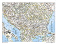 Buy map Balkans, Classic, Sleeved by National Geographic Maps