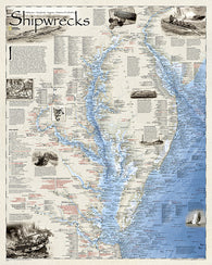 Buy map Shipwrecks of the Delmarva, Folded Wall Map by National Geographic Maps