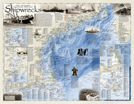 Buy map Shipwrecks of the Northeast, Folded Wall Map by National Geographic Maps