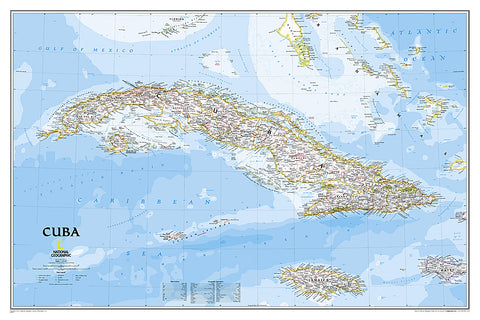 Buy map Cuba Classic, Tubed by National Geographic Maps