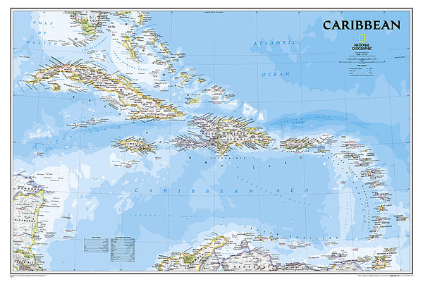 Buy map Caribbean, Classic, sleeved by National Geographic Maps