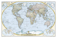 Buy map NGS 125th Anniversary World Map (Folded and Double-sided) by National Geographic Maps