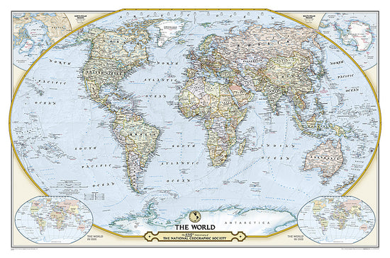 Maps of the world buy online 125th anniversary world map laminated by national geographic maps gumiabroncs Gallery