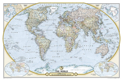 Buy map 125th Anniversary World Map, Laminated by National Geographic Maps