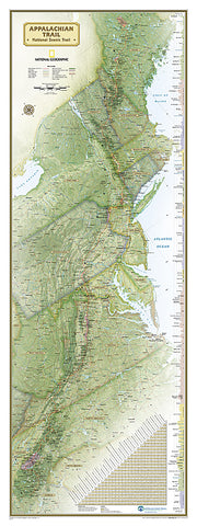 Buy map Appalachian Trail, Laminated, Polybagged by National Geographic Maps