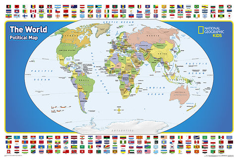 Buy map The World for Kids, Laminated, Wall Map by National Geographic Society