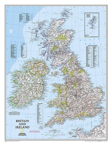 Buy map Britian and Ireland, tubed by National Geographic Maps