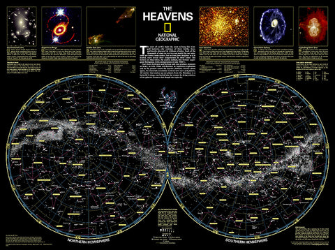 Buy map The Heavens by National Geographic Maps