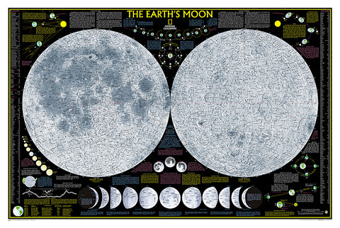 Buy map The Moon, Tubed by National Geographic Maps