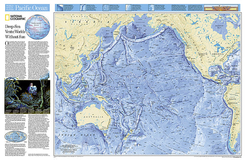 Buy map World Ocean Floor, Pacific, Tubed by National Geographic Maps